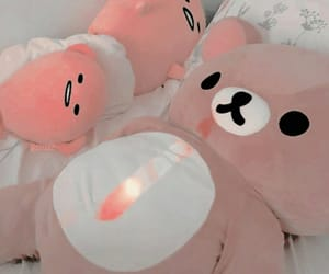 pink, teddy bear, and plusy image