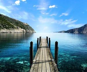 blue sea and quay image