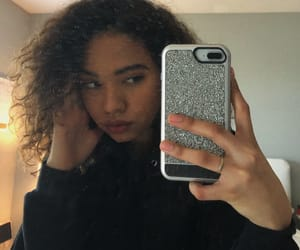 curly hair, moody, and style image
