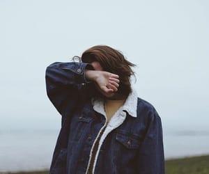 girl, denim jacket, and grunge image