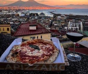 food, italian, and pizza image