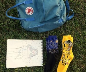 art, bag, and blue image