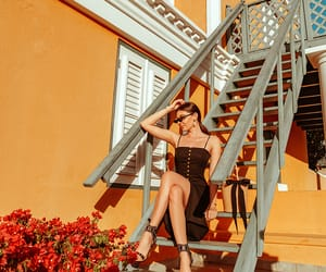 black dress, fashion blog, and aruba image
