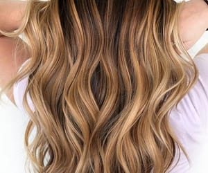 curly, ombre, and hair image