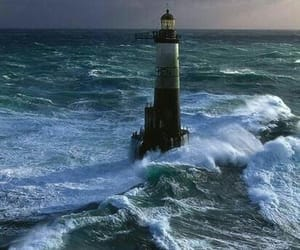 lighthouse and waves image