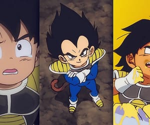 anime, vegeta, and broly movie image