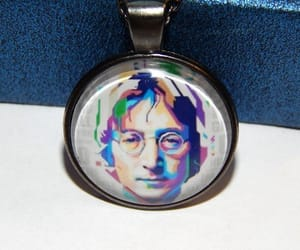 etsy, beatles jewelry, and john lennon necklace image