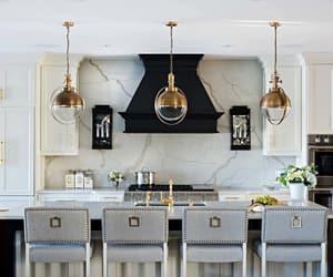 kitchen design, kitchen island, and transitional kitchen image