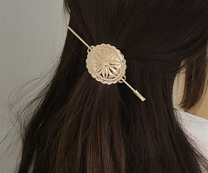 barrette, golden, and simple image