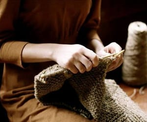 brown, clothes, and knitting image