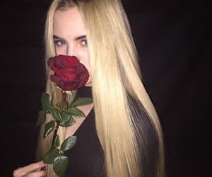girl, rose, and tumblr image