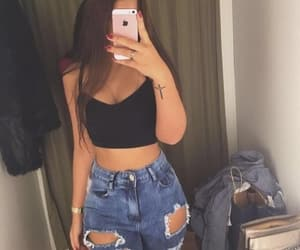 girl, jeans, and tumblr image