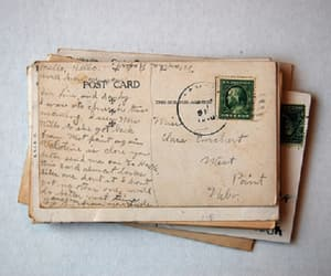 vintage, post cards, and letters image