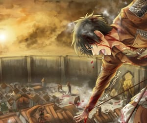 shingeki no kyojin, attack on titan, and eren yeager image