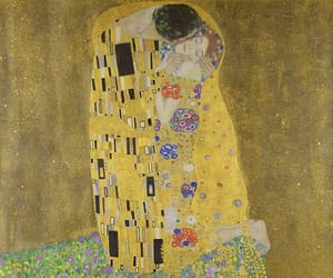 art, gold, and love image