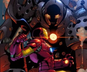 iron man, Marvel, and comics art image