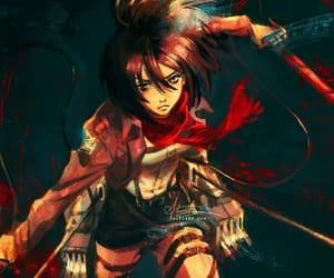 shingeki no kyojin, attack on titan, and mikasa ackerman image