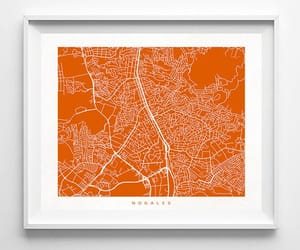 etsy, street map, and map poster image