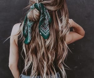 bandanna, blonde, and hairstyles image