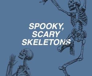 skeleton, blue, and Halloween image