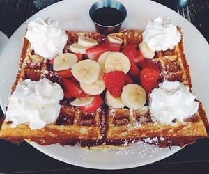 delicious and waffle image