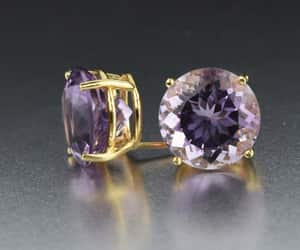 amethyst, earrings, and foil image