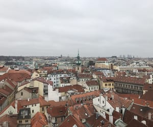 city view, czech republic, and fall image