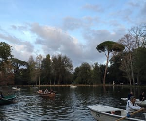 blue and green, rome, and boating image