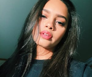girl, makeup, and biracial image