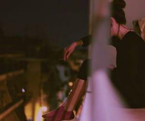 girl, mood, and smoking image