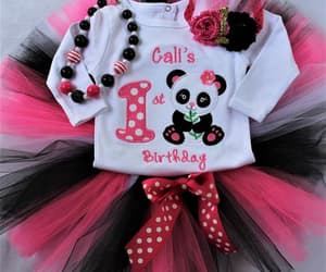 etsy, pink necklace, and girl 1st birthday image