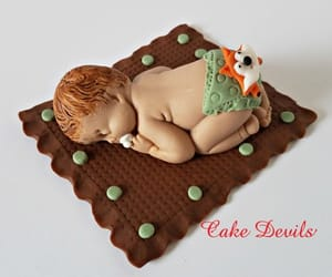 cake topper, etsy, and sleeping baby image