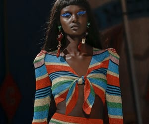catwalk, Moschino, and stripes image