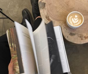 beauty, books, and cafe image