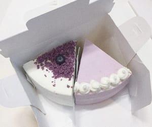food, cake, and purple image