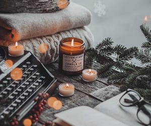 candle, cozy, and home image