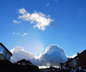 cloudy, sun, and beautiful weather image