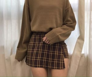 aesthetic, brown, and clothes image