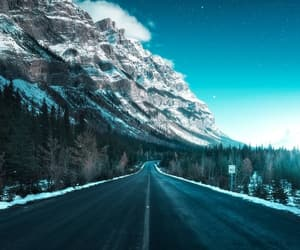blue, road, and turquoise image