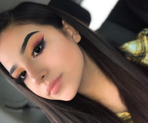 eyebrows, lashes, and pretty girl image