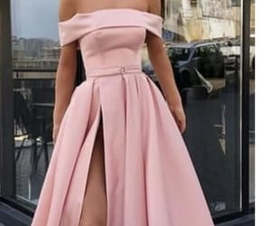dress, pink dress, and pretty in pink image