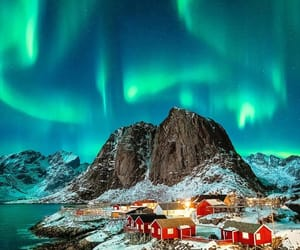aesthetic, nature, and northern lights image