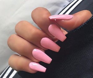 nails, pink, and coffin image