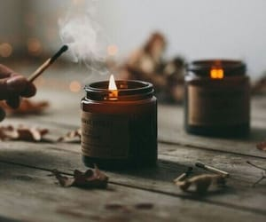 candle, fall season, and autumn vibes image