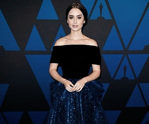 actress, lily collins, and dress image