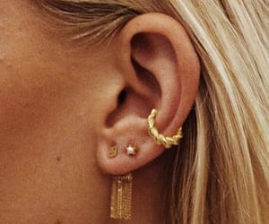 beauty, ear, and rings image