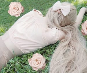 blonde, doll, and hair image
