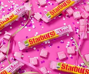 candy, pink, and starburst image