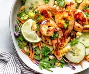 healthy, salad, and vegan image