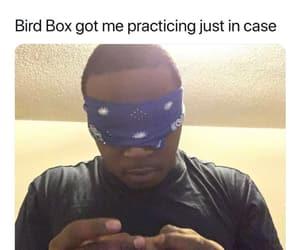 birdbox, meme, and weed image